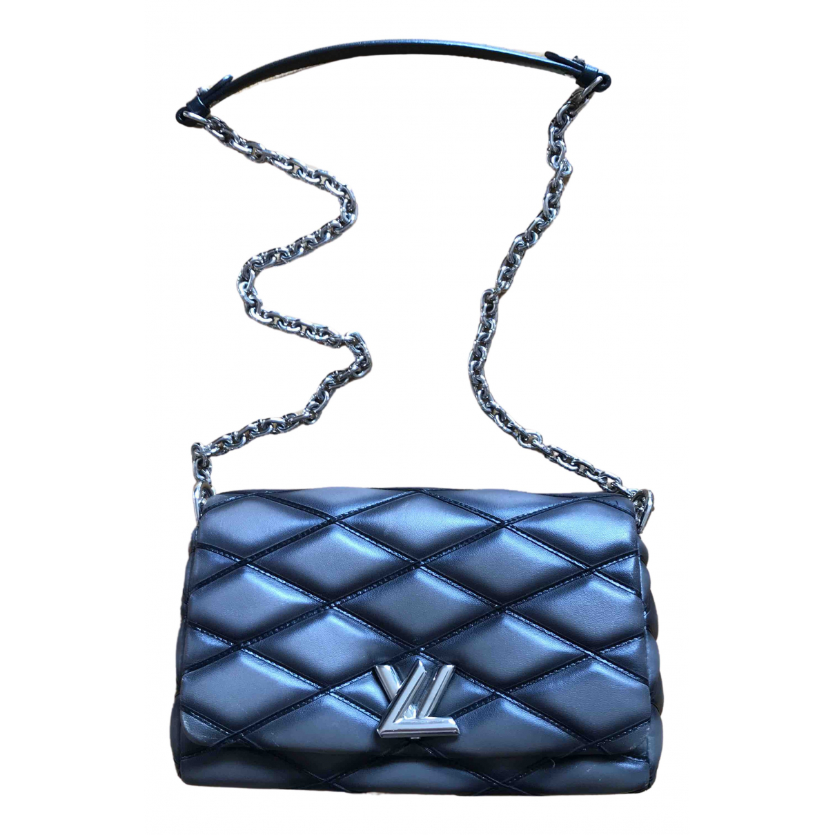 Louis Vuitton GO 14 Anthracite Leather handbag for Women \N