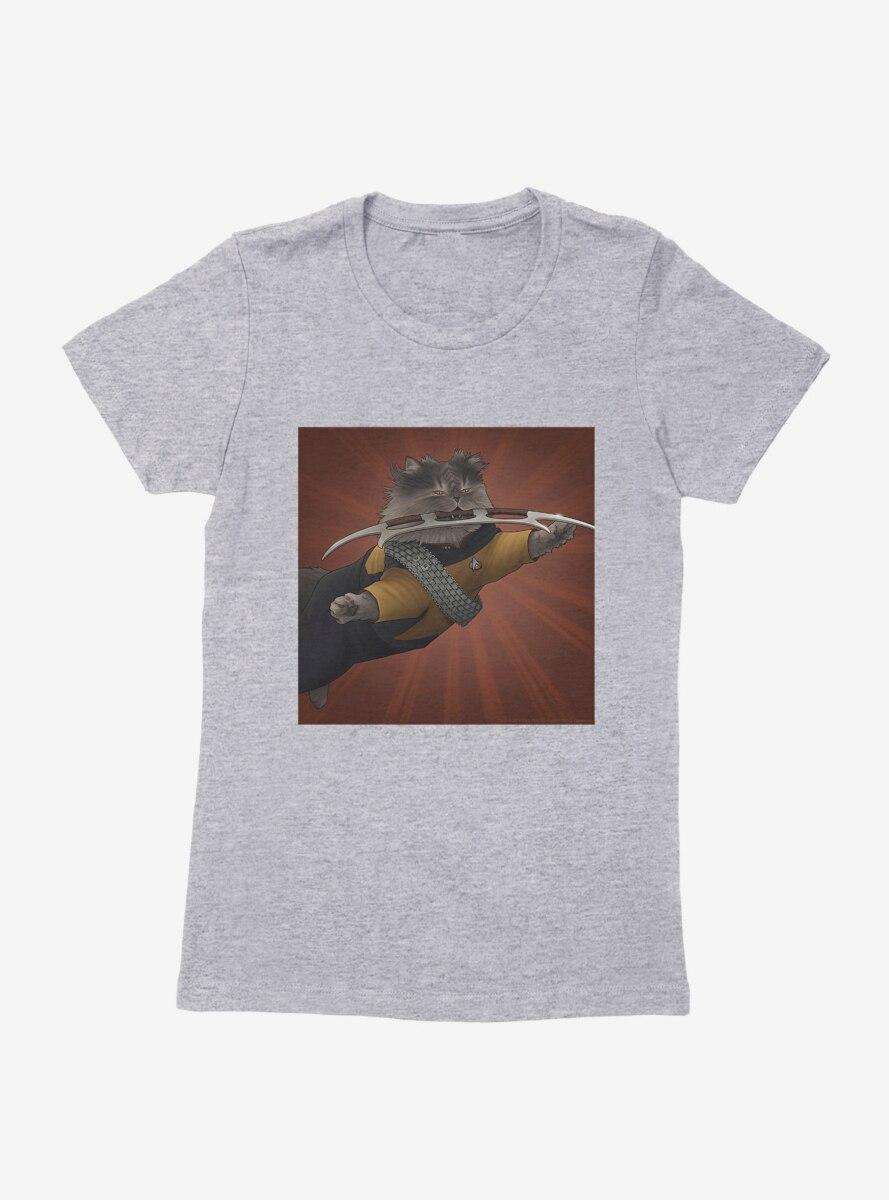 Star Trek The Next Generation Cats Worf Attack Womens T-Shirt