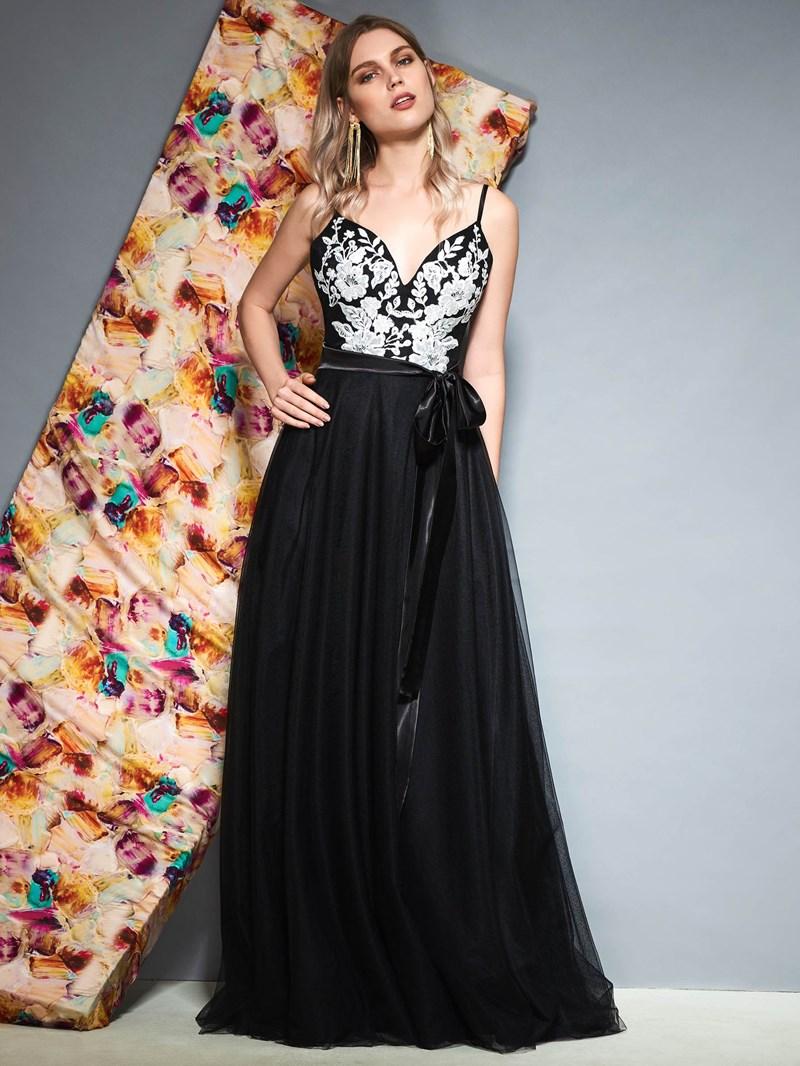 Ericdress Spaghetti Straps A-Line Floor-Length Prom Dress