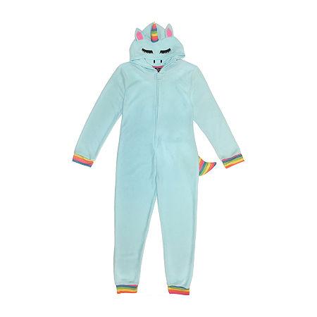 Little & Big Unisex Fleece Long Sleeve One Piece Pajama, X-large , Blue