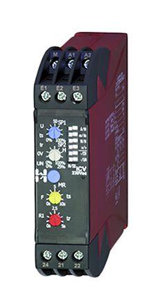 Hiquel Voltage Monitoring Relay With DPDT Contacts, 24 V ac Supply Voltage, 1 Phase, Overvoltage, Undervoltage