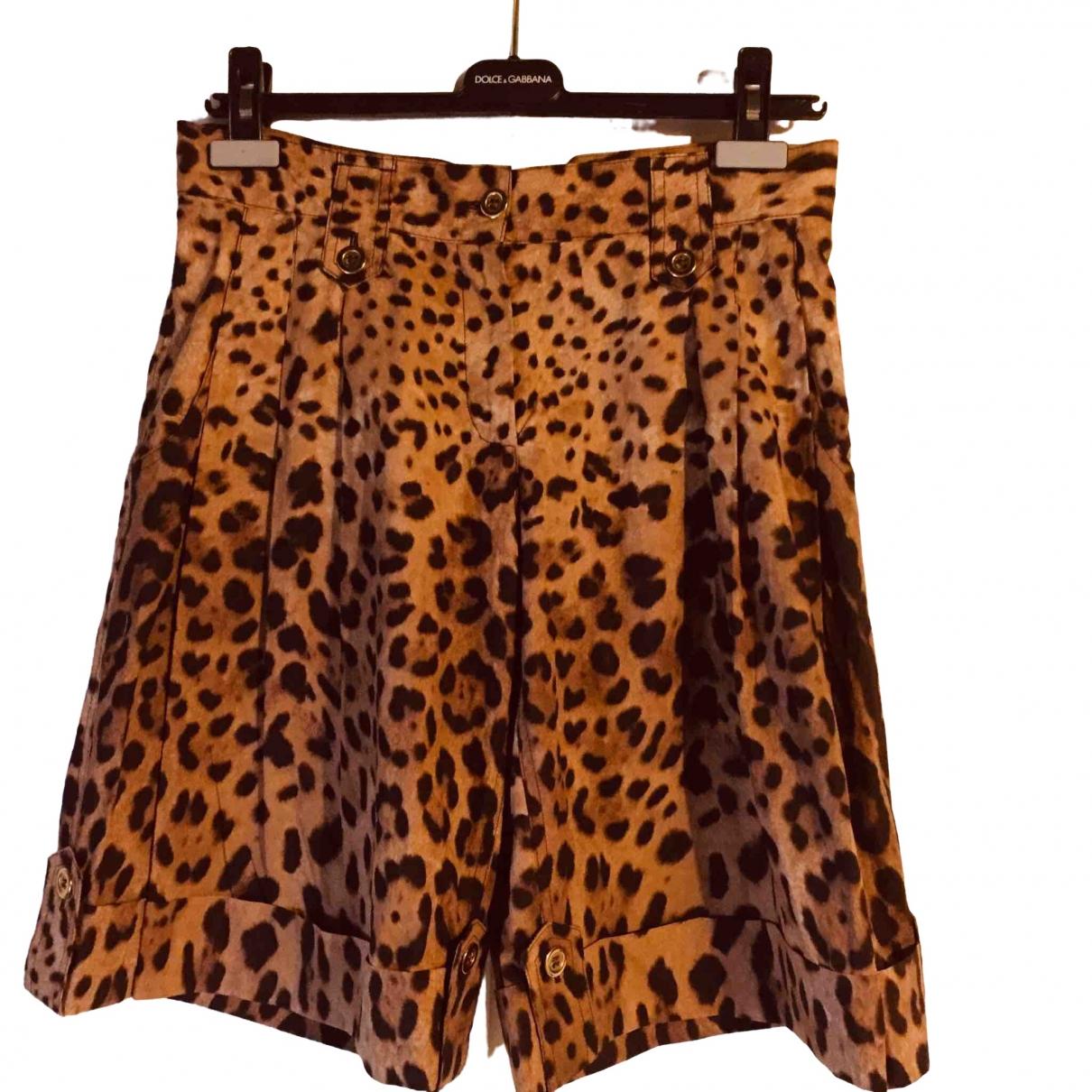 Dolce & Gabbana \N Multicolour Cotton Trousers for Women 40 IT