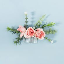 Flower Decor Hair Comb