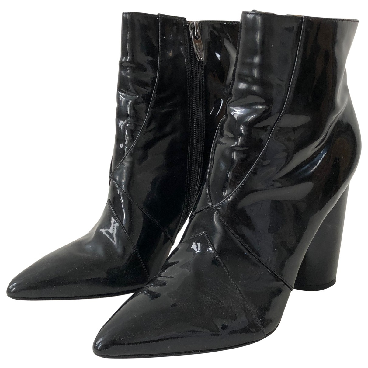 Sigerson Morrison \N Black Patent leather Ankle boots for Women 10 US