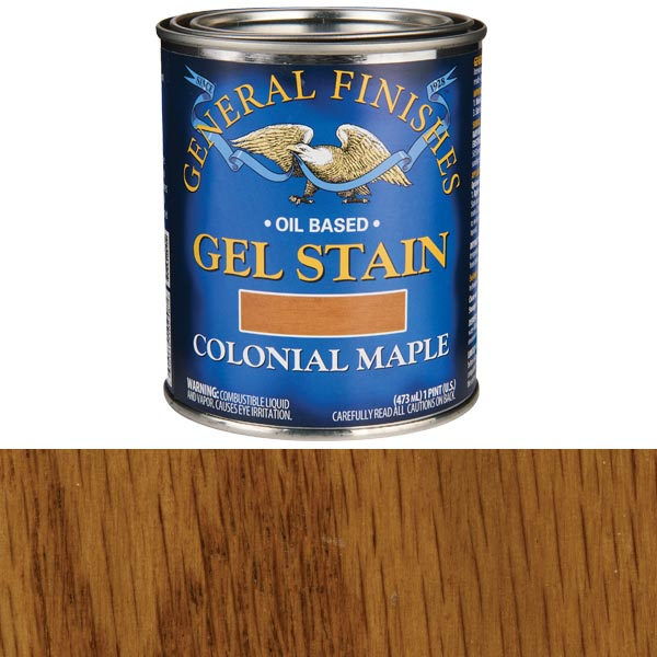Colonial Maple Gel Stain Solvent Based Pint