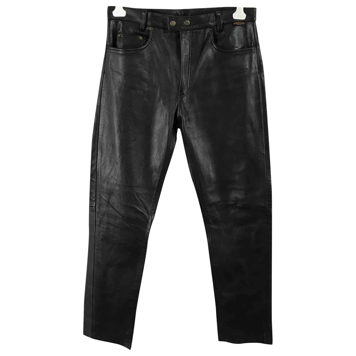 Non Signé / Unsigned \N Black Leather Trousers for Men 36 UK - US