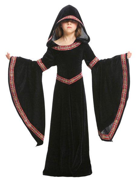 Milanoo Kids Halloween Costumes Burgundy Vampire Velour Clothes Cosplay Wears For Child