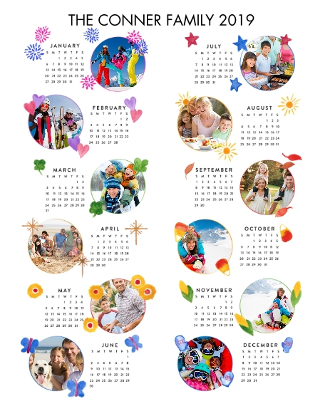 Calendar 16x20 Adhesive Poster, Home Décor -One Wish