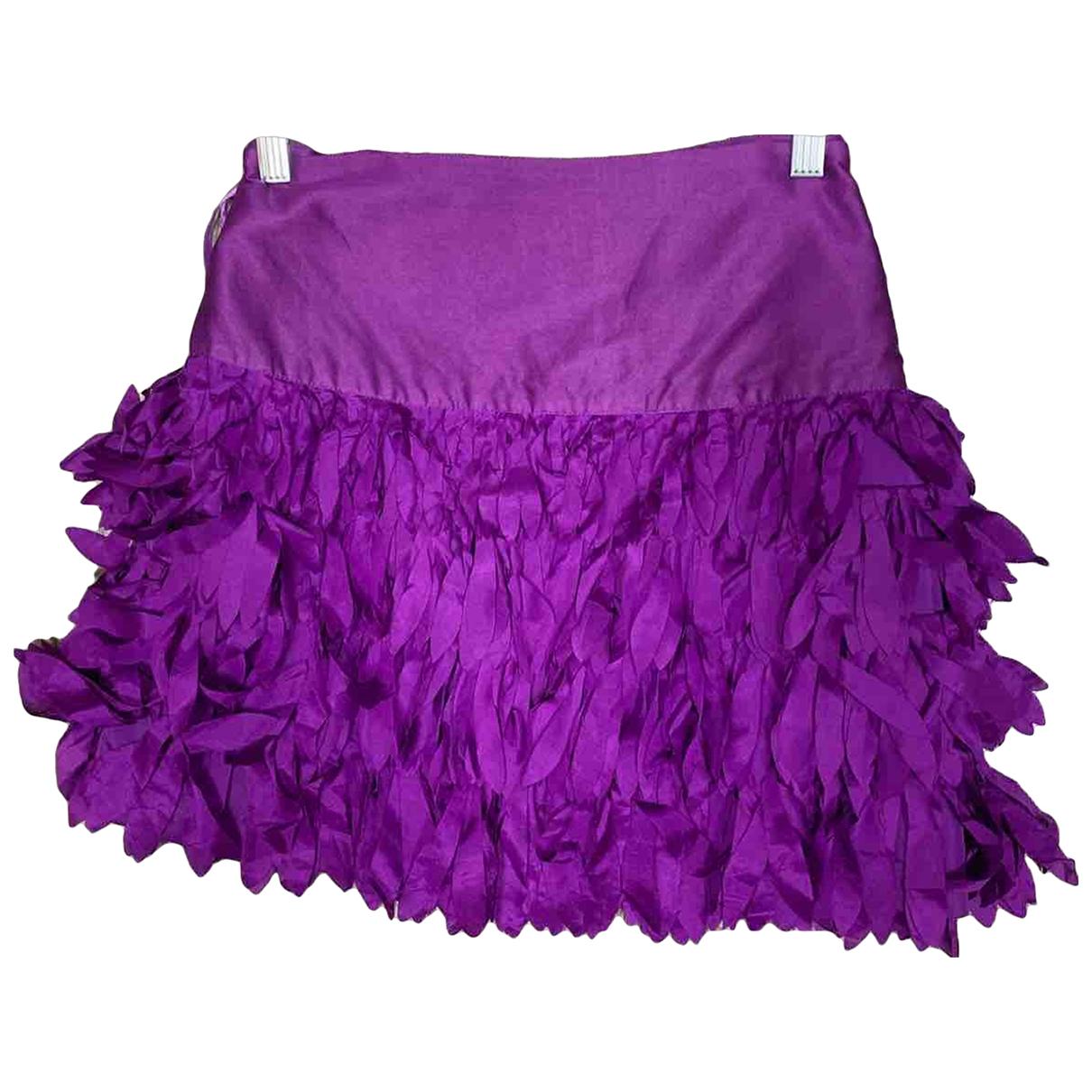 Reiss \N Purple Silk skirt for Women 14 UK