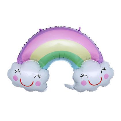 Feuille ballon sourire nuage arc-en-ciel mylar décor de fête ballon mylar, 35.8