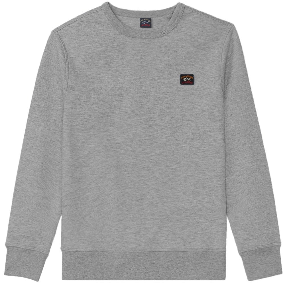 Paul & Shark Kids Small Patch Logo Sweatshirt Colour: GREY, Size:
