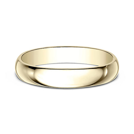 Womens 4mm 10K Yellow Gold Wedding Band, 6 , No Color Family