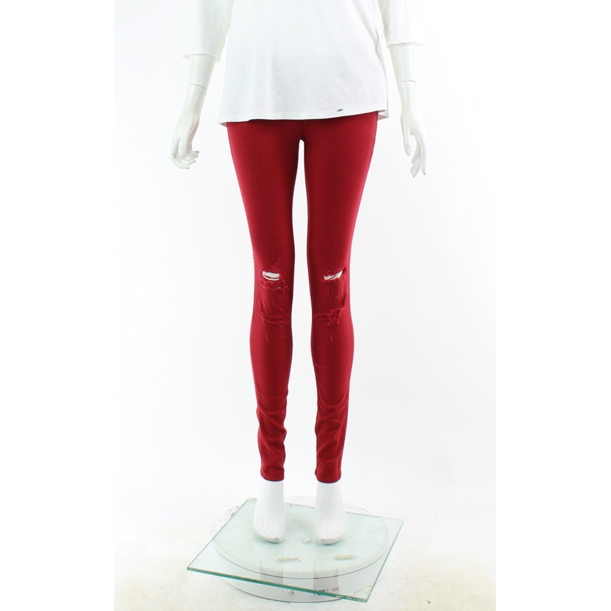 Rag & Bone \N Red Cotton Trousers for Women 4 US