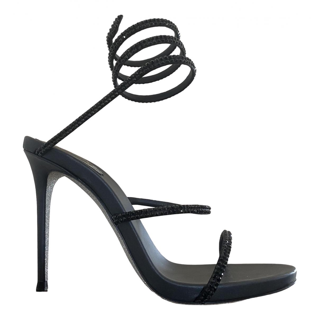 Rene Caovilla \N Black Leather Heels for Women 39 IT