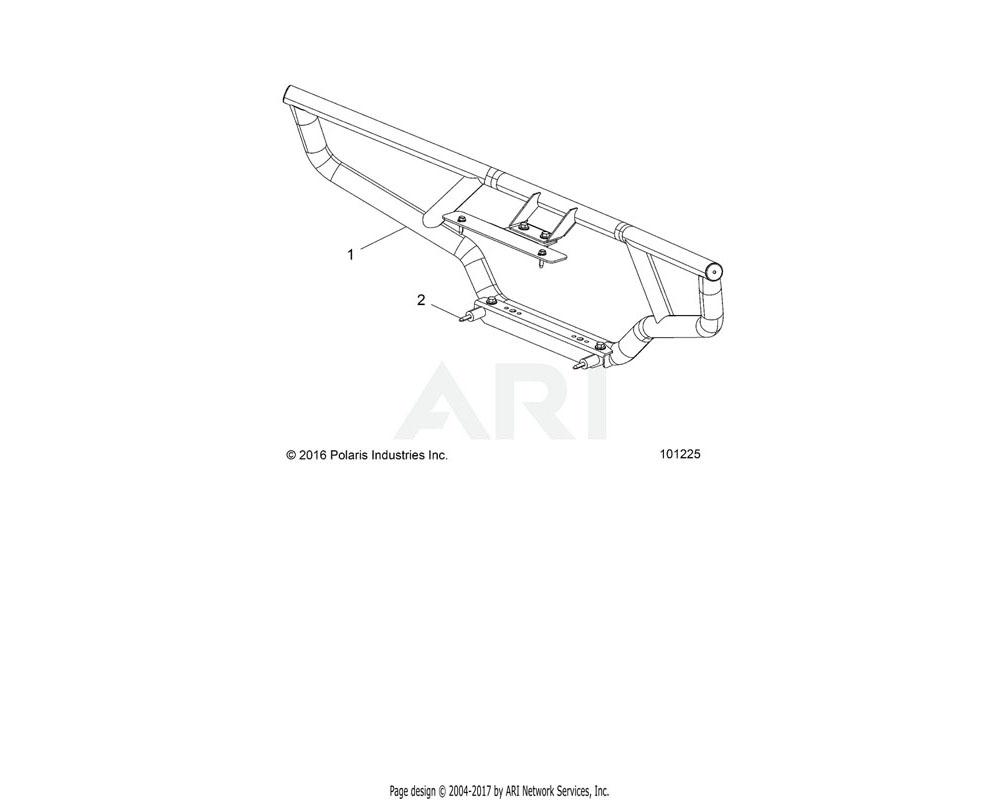 Polaris OEM 2205225 K-HDWR, BG, FRT, SPE