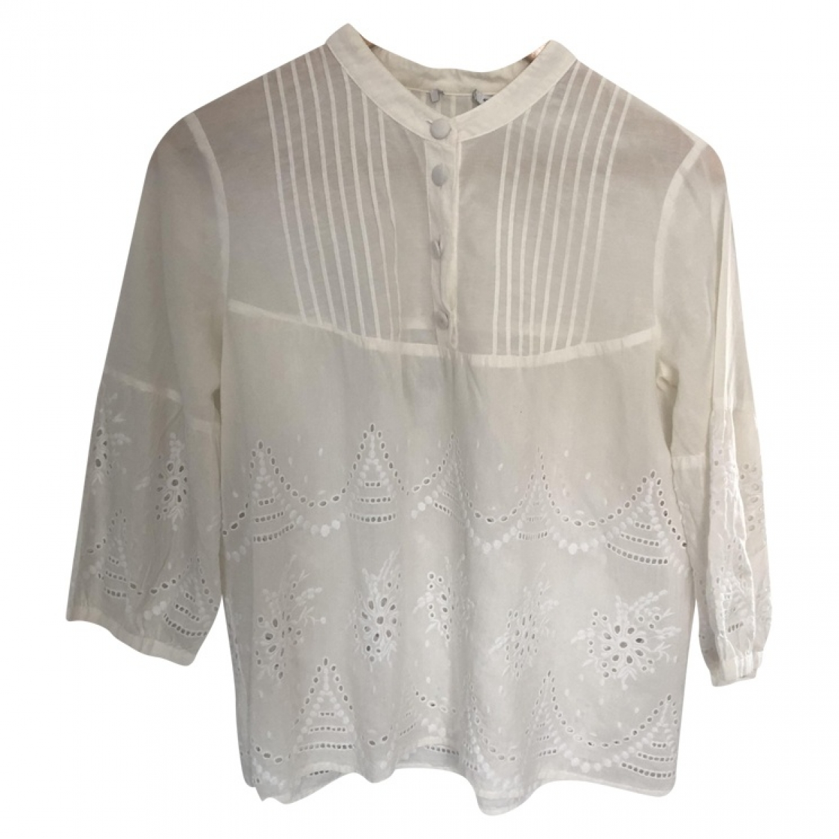 Non Signé / Unsigned \N Ecru Cotton  top for Women 40 IT