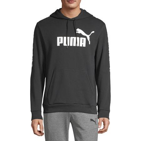 Puma Amplified Mens Long Sleeve Hoodie, Medium , Black