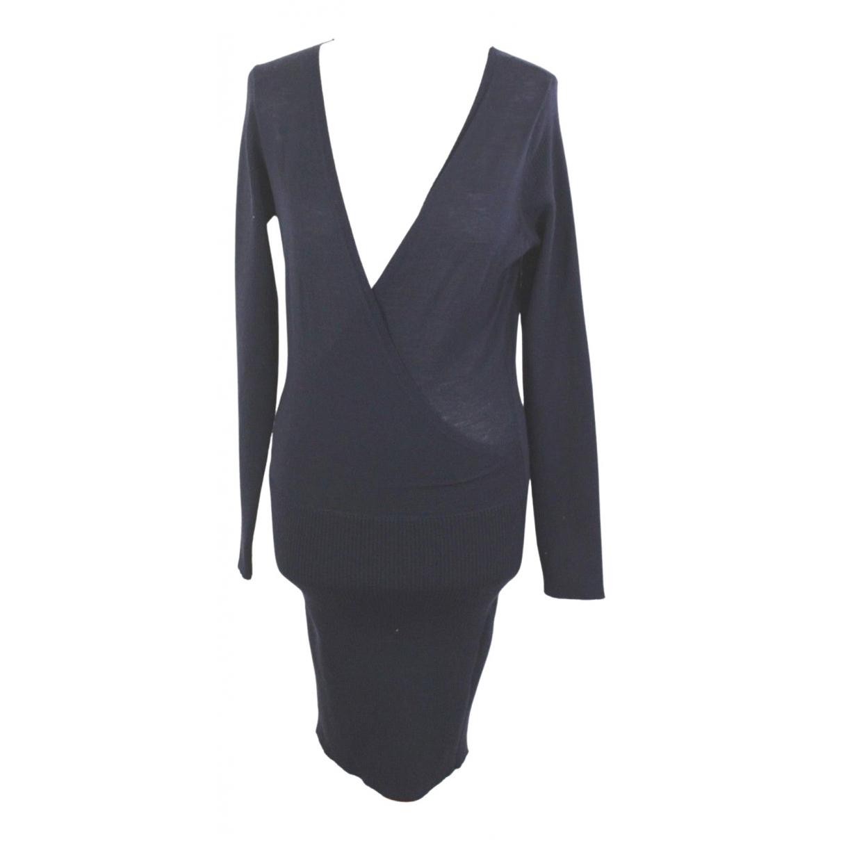 Twin Set \N Navy Wool dress for Women M International