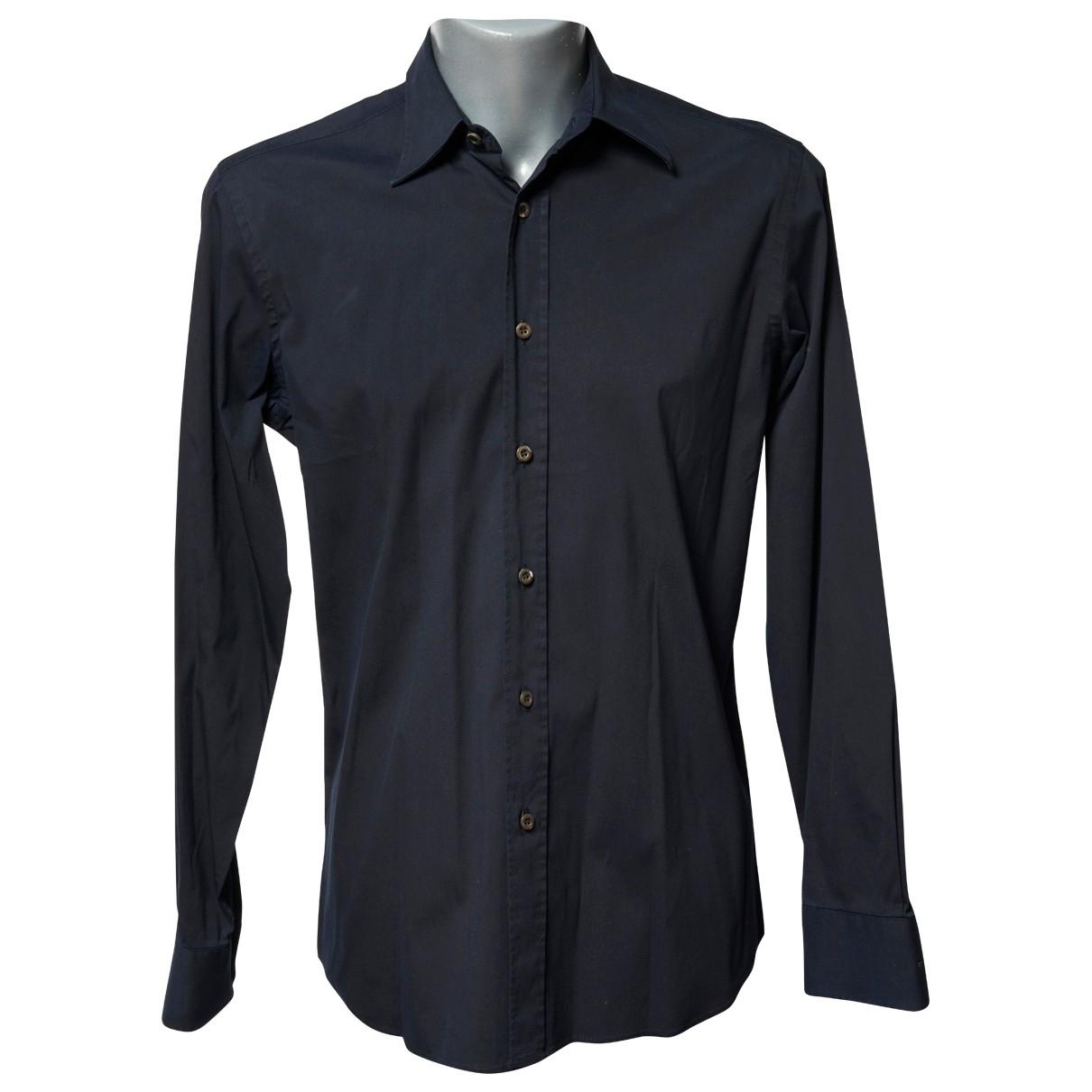 Prada \N Black Cotton Shirts for Men 39 EU (tour de cou / collar)