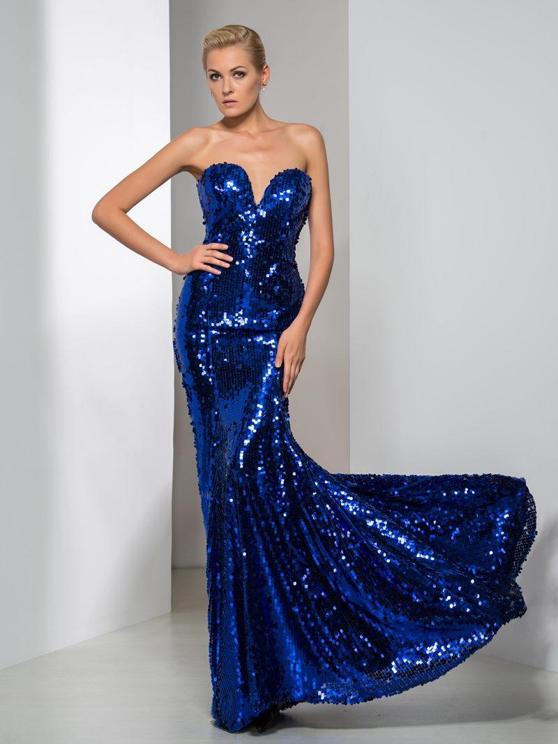 Ericdress Sweetheart Sequins Mermaid Reflective Evening Dress