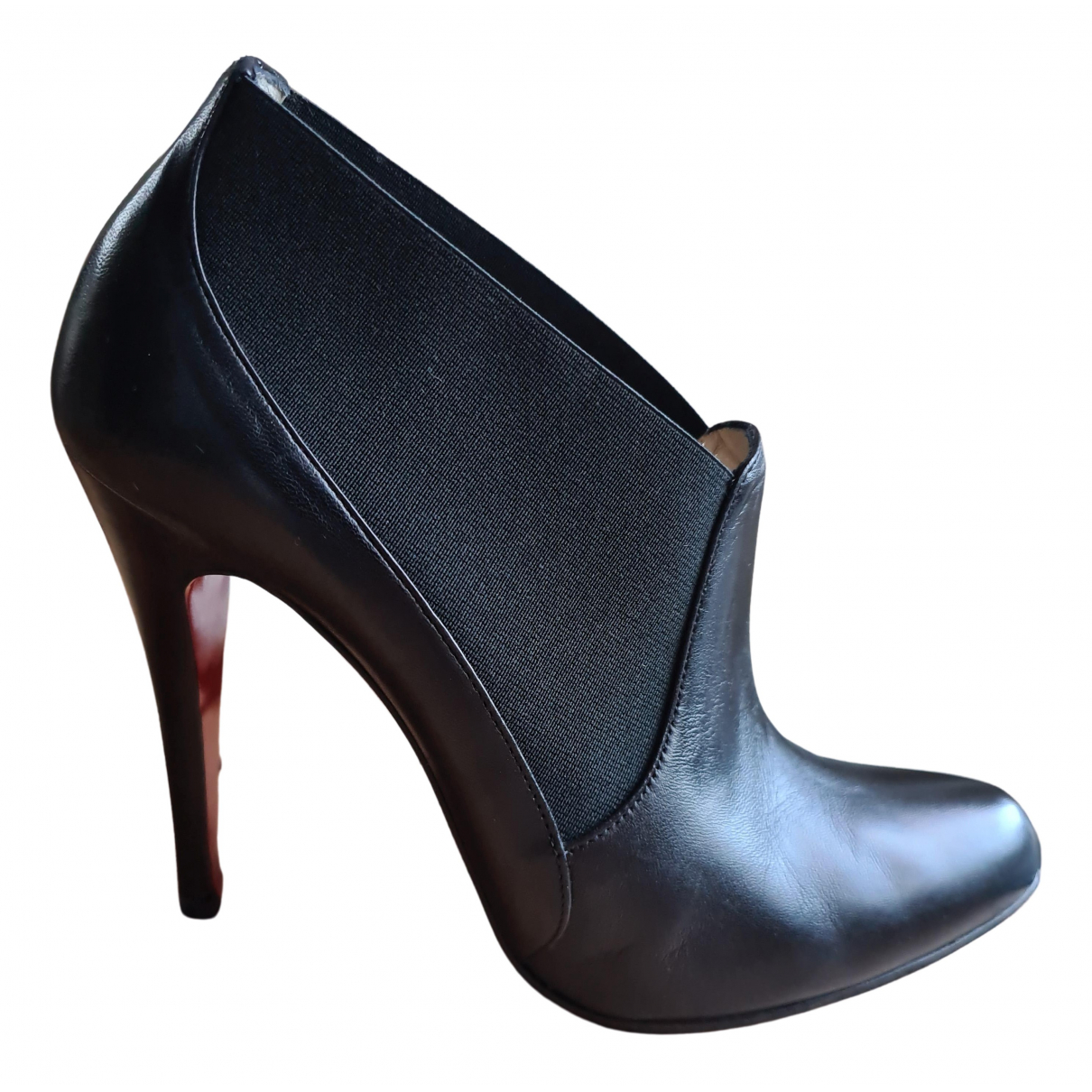 Christian Louboutin \N Black Leather Ankle boots for Women 40.5 EU