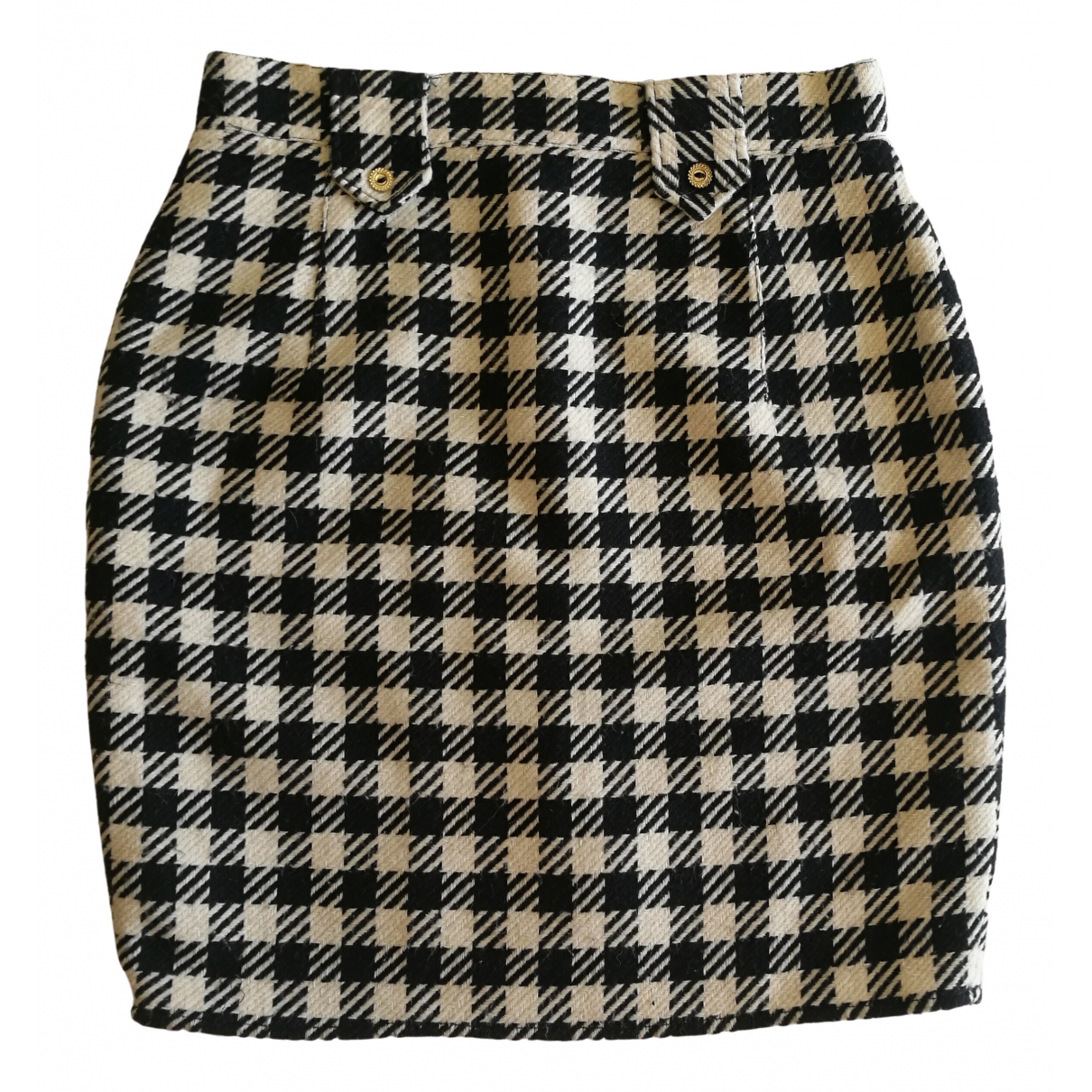 Non Signé / Unsigned \N Black Wool skirt for Women 4 US
