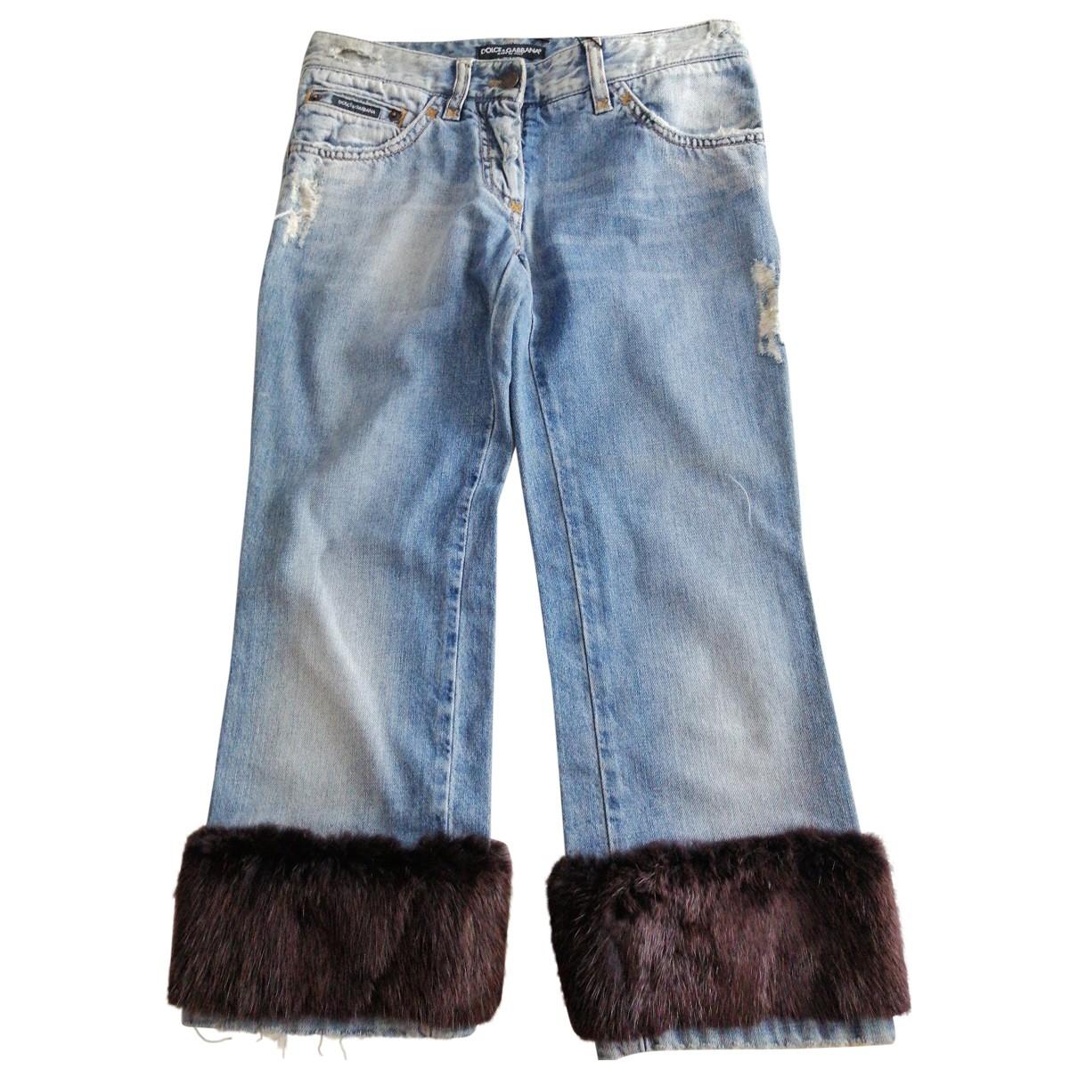 Dolce & Gabbana \N Blue Cotton Jeans for Women 34 FR
