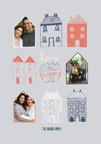 Family + Friends Framed Canvas Print, Oak, 20x30, Home Décor -Happy Home