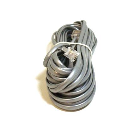 Câble téléphonique, RJ11 (6P4C), droit - 4 longueurs disponibles pour les données - Monoprice® - 25pi