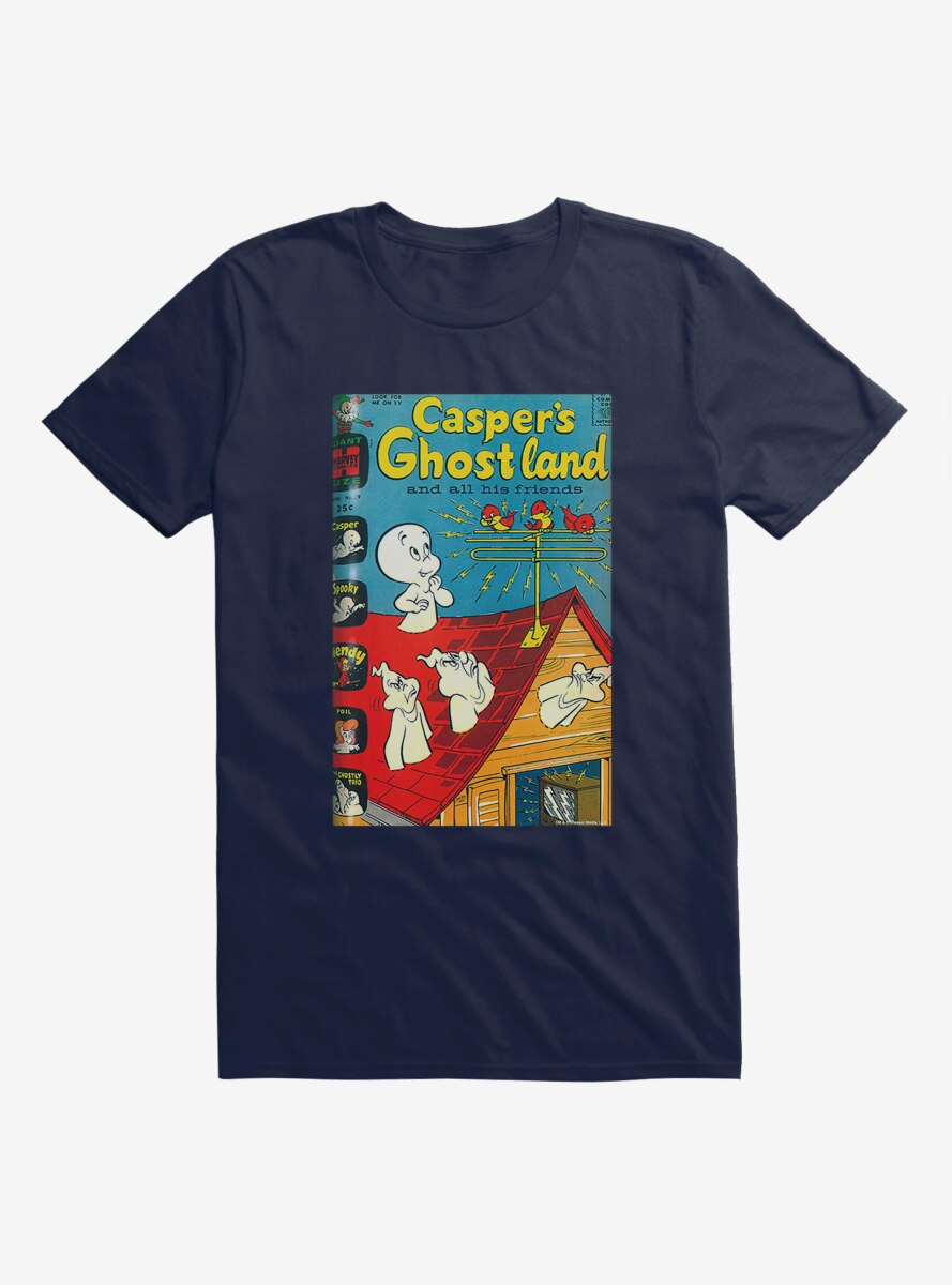 Casper The Friendly Ghost Ghostland And Friends Tweet Tweet T-Shirt