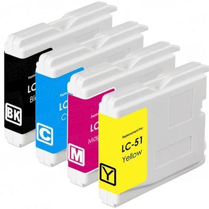 compatible Brother LC51 combo cartouche d'encre BK/C/M/Y - boite economique