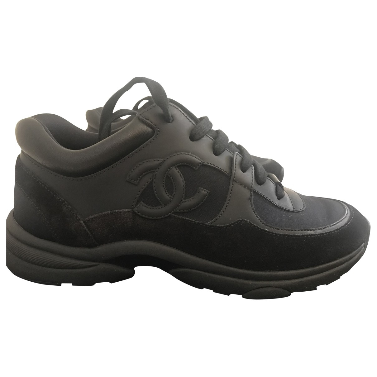 Chanel \N Black Leather Trainers for Women 39 EU