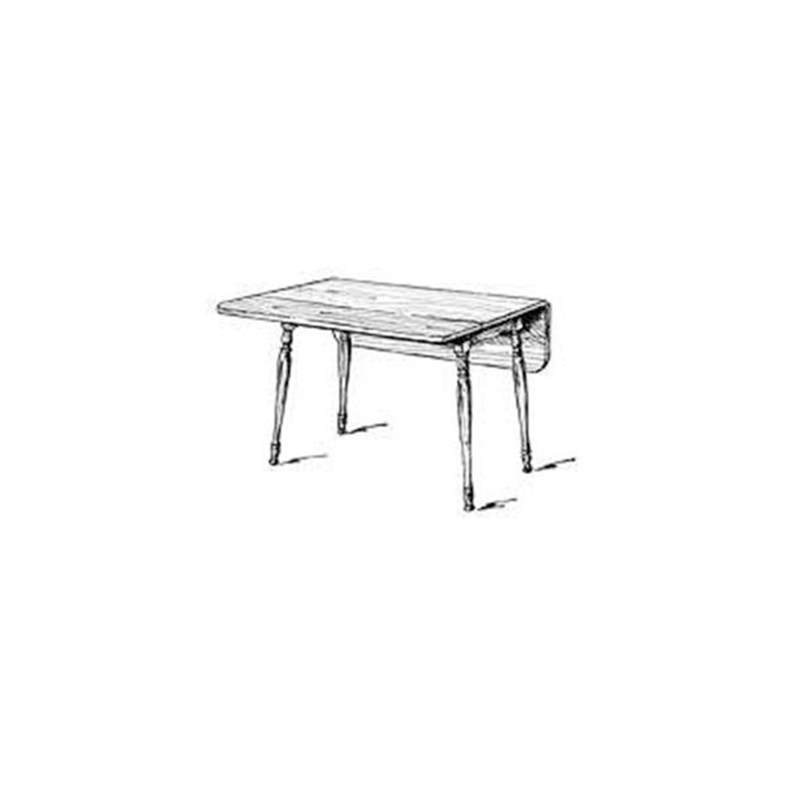 Woodworking Project Paper Plan to Build Harvest Table, 48