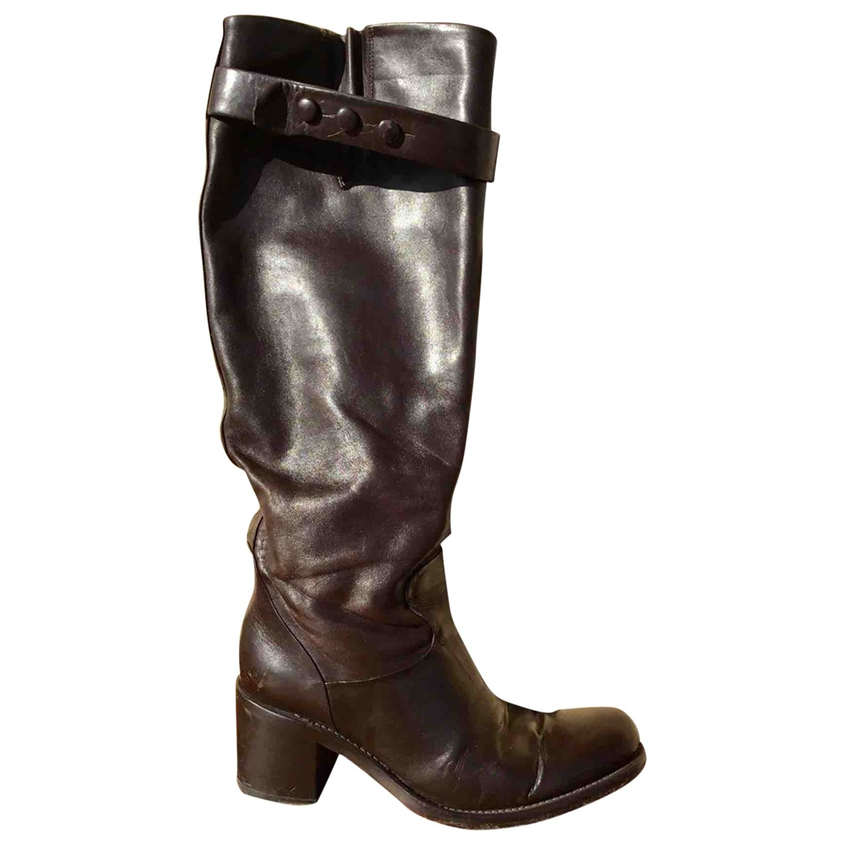 Free Lance Geronimo Brown Leather Boots for Women 36 EU
