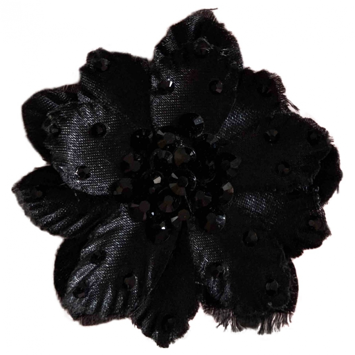 Non Signé / Unsigned \N Black Silk Hair accessories for Women \N