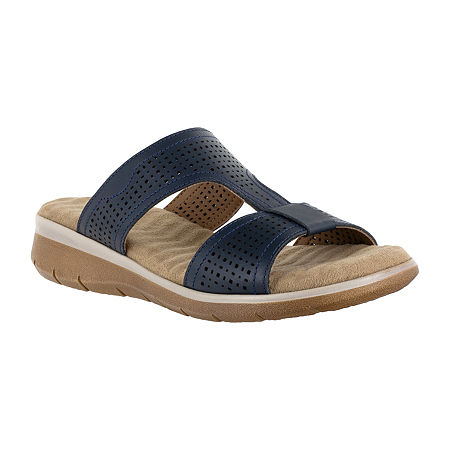 Easy Street Surry Womens Footbed Sandals, 6 1/2 Medium, Blue