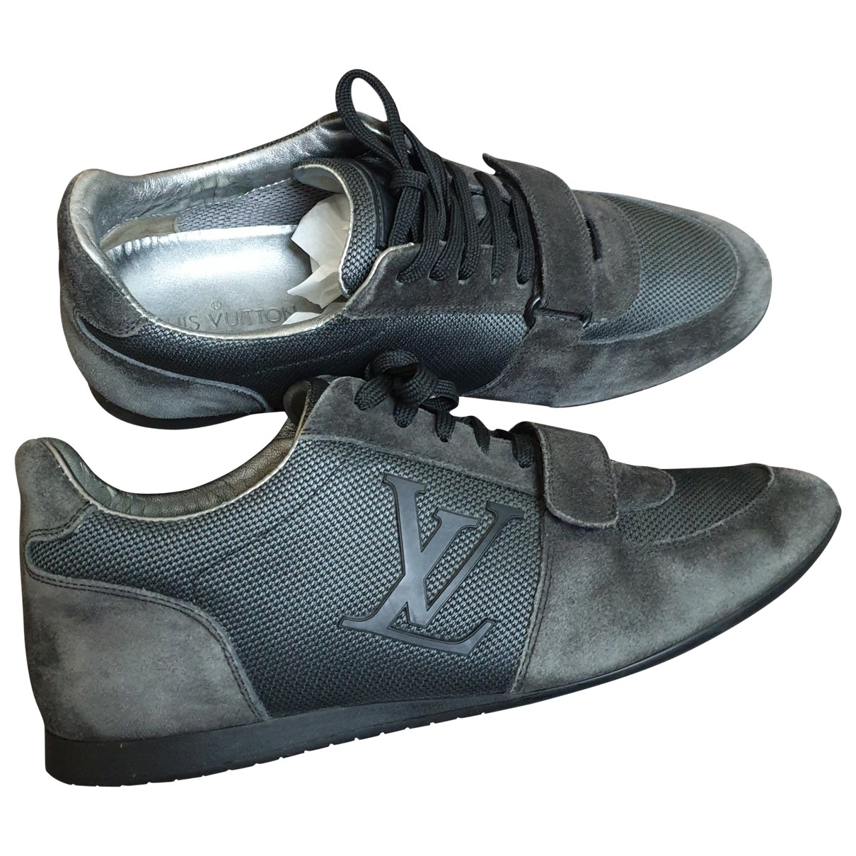 Louis Vuitton \N Grey Suede Trainers for Women 6 US