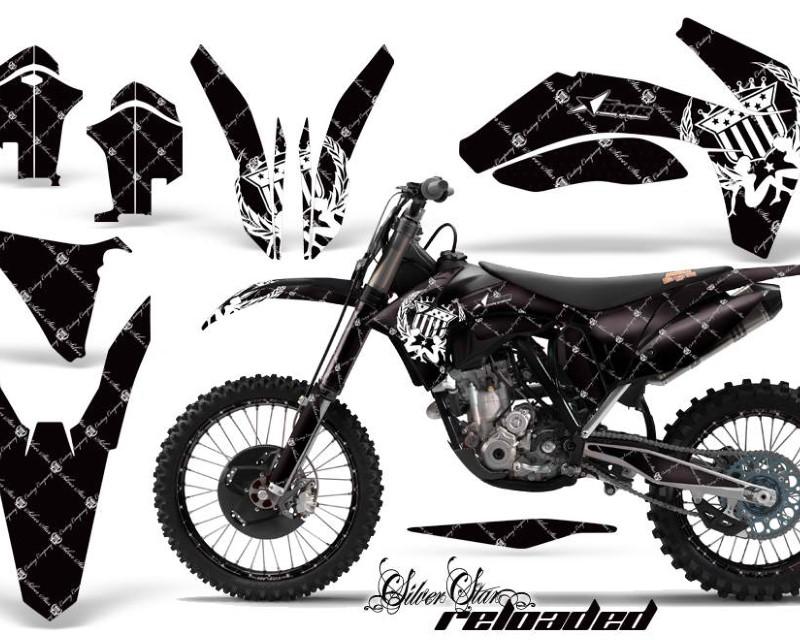 AMR Racing Graphics MX-NP-KTM-C7-11-13-SSR W K Kit Decal Sticker Wrap + # Plates For KTM SX/SX-F/XC/EXC/XFC-W 2011-2013áRELOADED WHITE BLACK