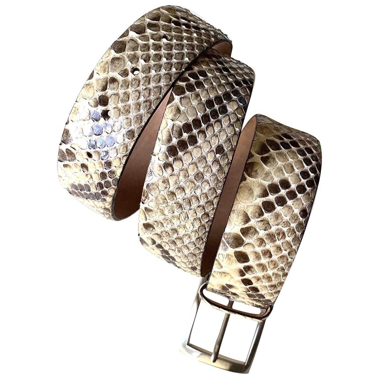 Orciani \N Beige Python belt for Women 90 cm