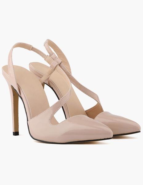 Milanoo Patent PU Modern Women's Pointy Toe Heels
