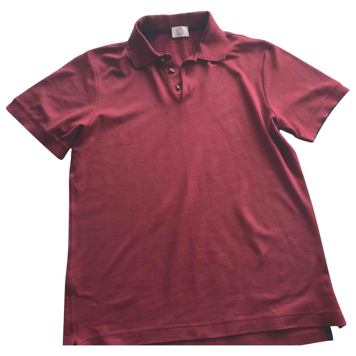 Hermès \N Burgundy Cotton Polo shirts for Men L International