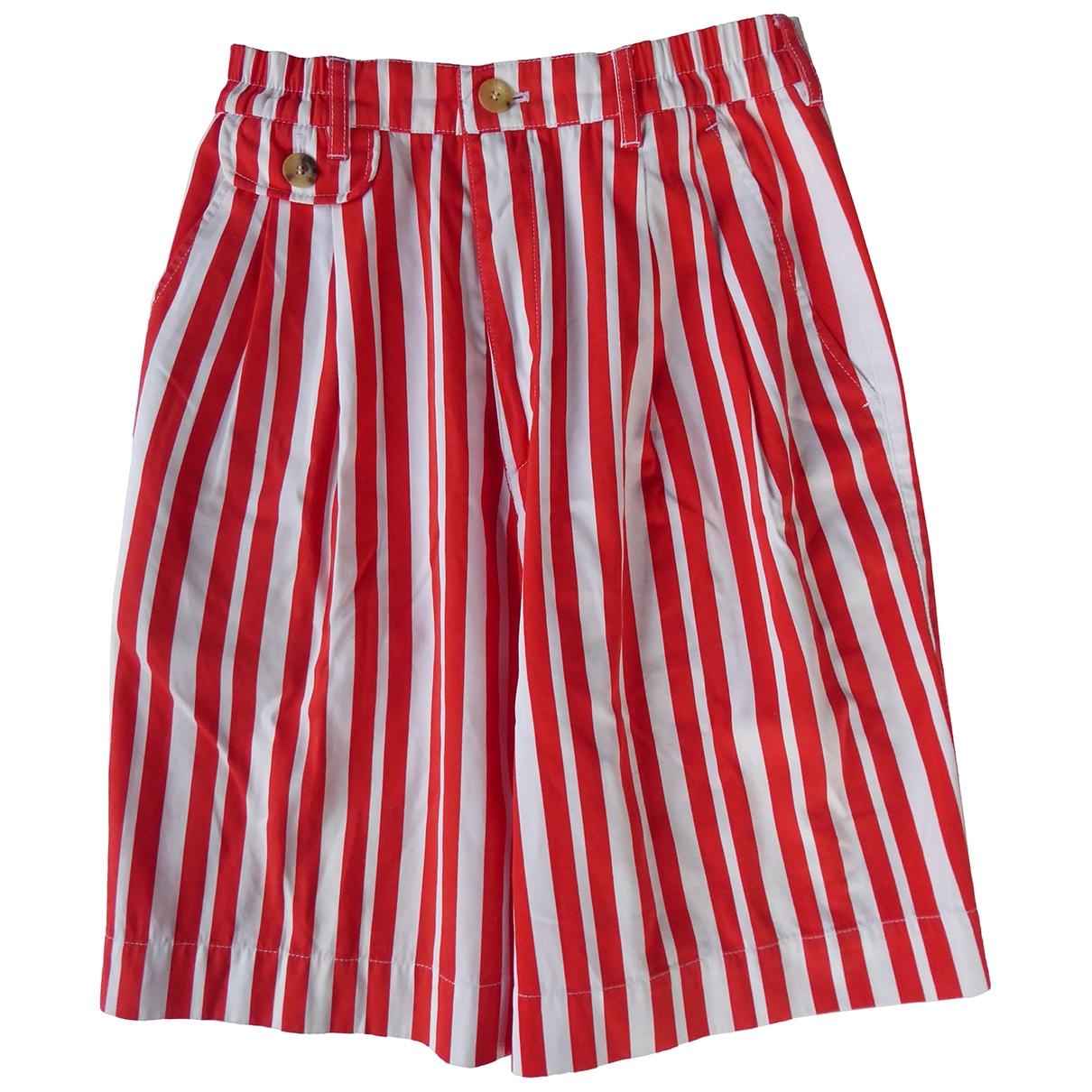 Bogner \N Red Cotton Shorts for Women 8 US