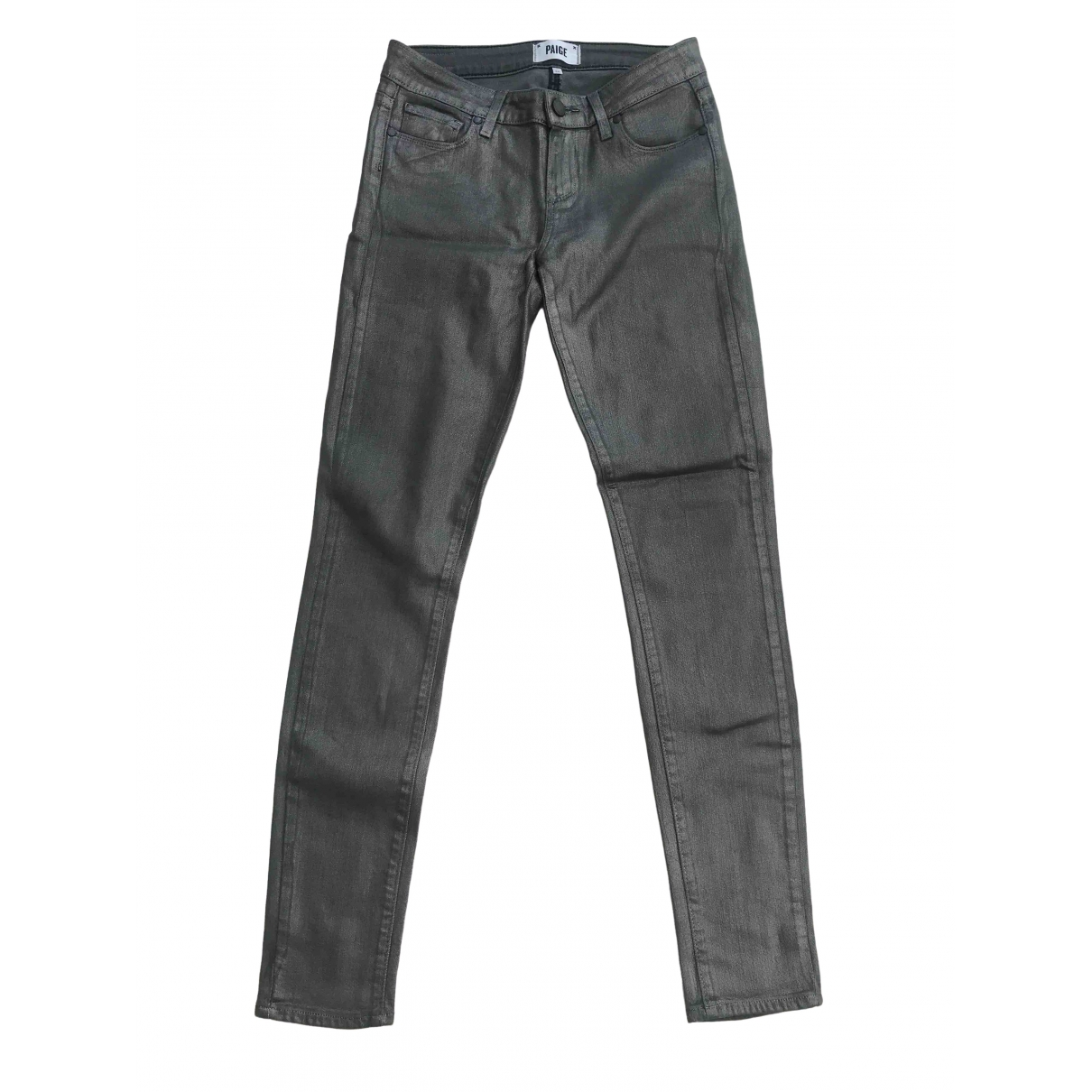 Paige Jeans \N Metallic Cotton - elasthane Jeans for Women 26 US