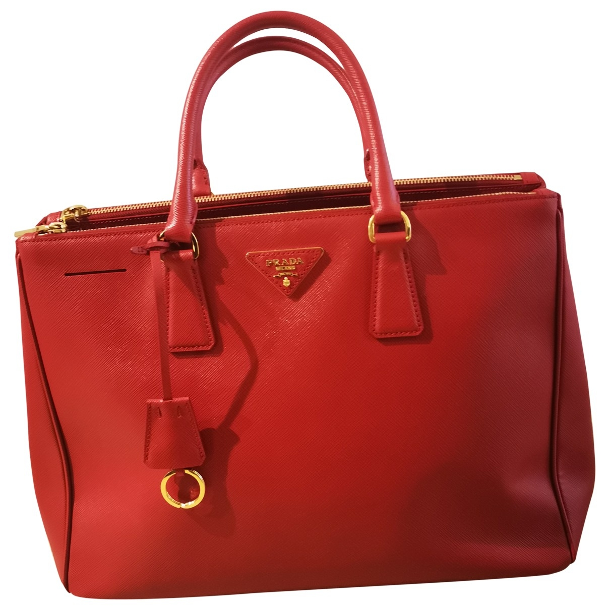 Prada saffiano  Red Leather handbag for Women \N