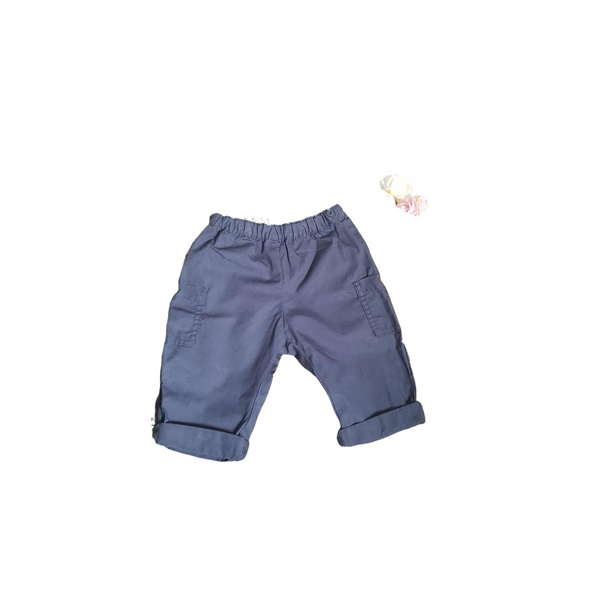 Petit Bateau \N Blue Cotton Trousers for Kids 6 months - up to 67cm FR