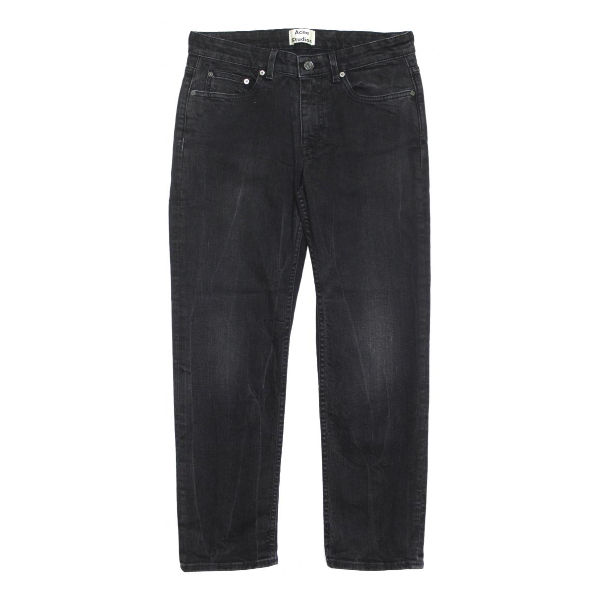 Acne Studios Row Black Cotton - elasthane Jeans for Women 27 US
