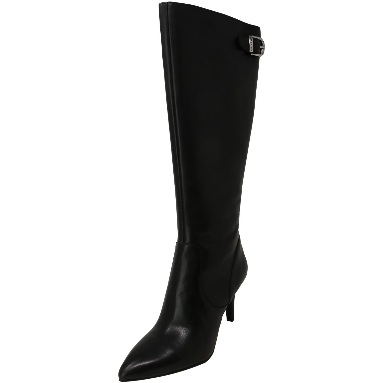Anne Klein Women's Fliss Black Knee-High Leather Boot - 5M