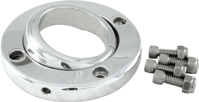 Borgeson 909002 Swivel Floor Mount For 1 3/4in. Steering Column; Polished Aluminum