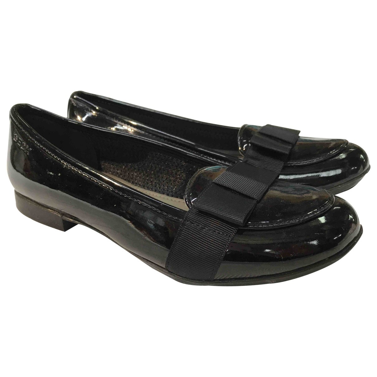 Non Signé / Unsigned \N Black Patent leather Ballet flats for Kids 35 EU