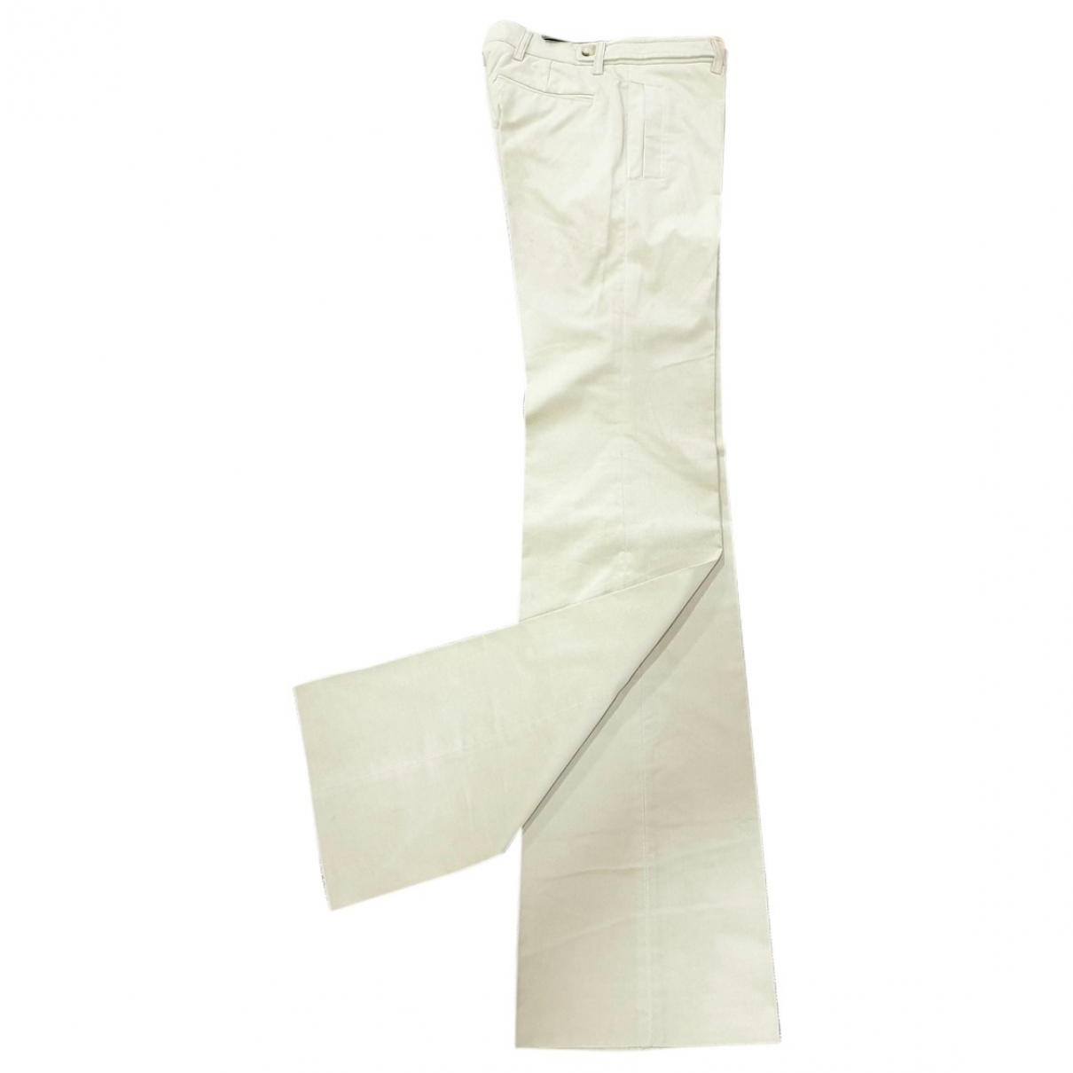 Gucci \N Beige Velvet Trousers for Women 40 IT